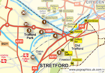 Map produced for Trafford Borough Council